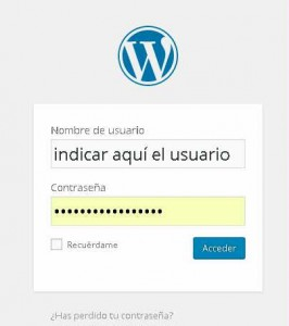 acceso wordpress